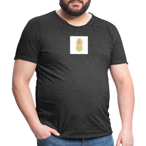 T-shirt avec ananas sur le côté - T-shirt vintage Homme