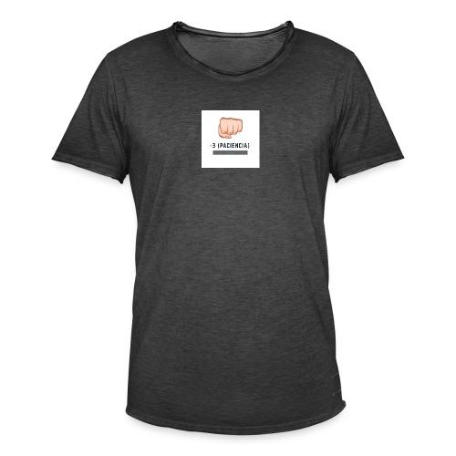 paciencia puño - Camiseta vintage hombre