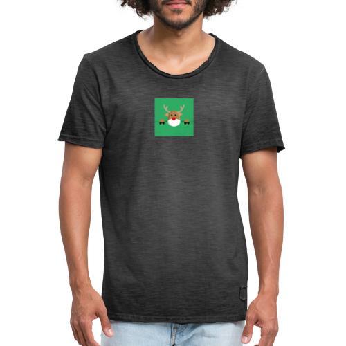 Rudolf the red nosed reindeer - Männer Vintage T-Shirt