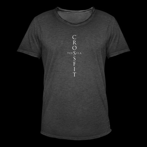 CrossFit Tuusula risti - Miesten vintage t-paita