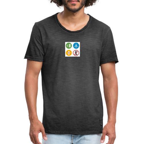 4kriteria obi vierkant - Mannen Vintage T-shirt