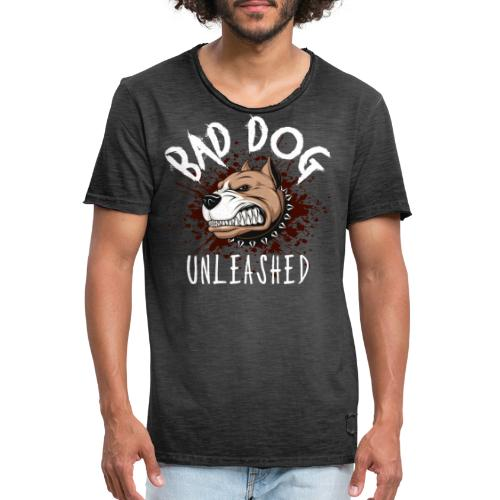 Bad Dog Unleashed - Vintage-T-shirt herr