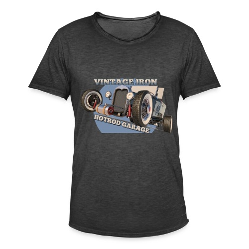 hot rod garage | vintage iron - Männer Vintage T-Shirt
