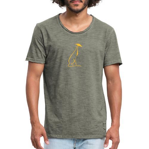 Sitzender Windhund - Männer Vintage T-Shirt