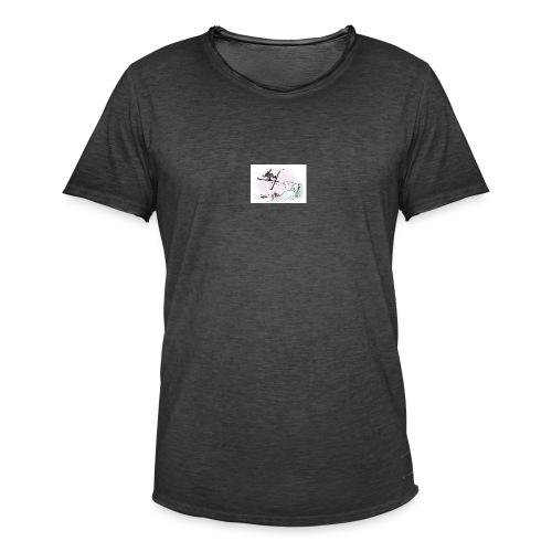 skihopp - Vintage-T-skjorte for menn