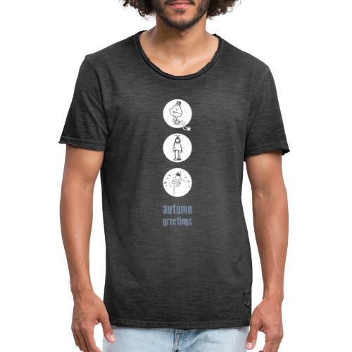 herbstgruss - Männer Vintage T-Shirt