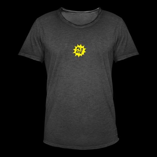 PLSDIE Hatewear - Männer Vintage T-Shirt