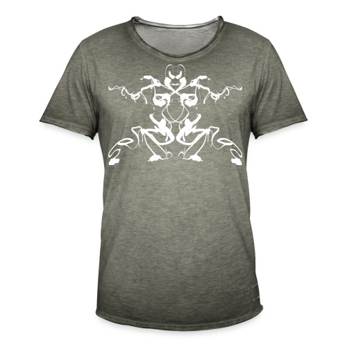 Rorschach test of a Shaolin figure Tigerstyle - Men's Vintage T-Shirt