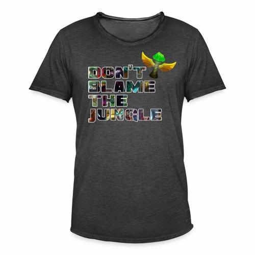 don't blame the jungle - Camiseta vintage hombre