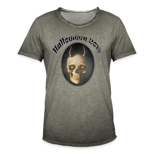 Halloween 2018 Horned Devil Skull - Men's Vintage T-Shirt