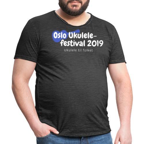 Oslo Ukulelefestival 2019 - Vintage-T-skjorte for menn
