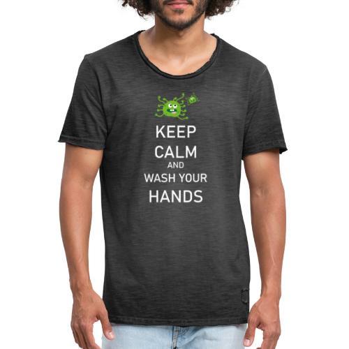 Corona Virus Hände Waschen Keep Calm - Männer Vintage T-Shirt