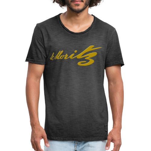 St. Moritz Schweiz Souvenir - Männer Vintage T-Shirt