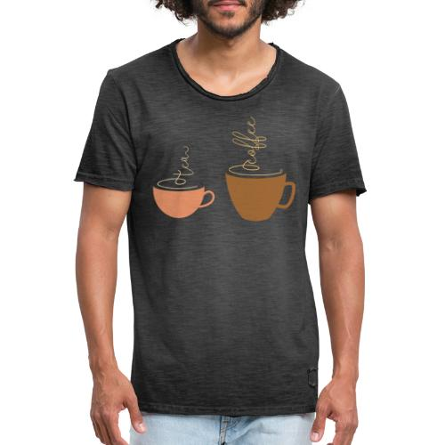 0254 Tea or coffee? That is the question! - Men's Vintage T-Shirt