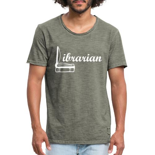 0325 Librarian Librarian Cool design - Men's Vintage T-Shirt