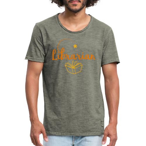 0327 Librarian Librarian Library Book - Men's Vintage T-Shirt