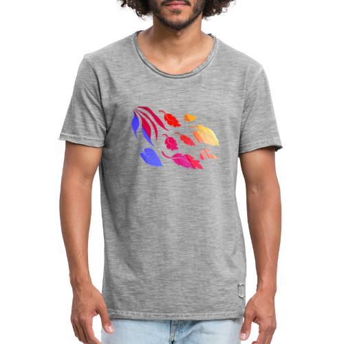 Natur Blätter Regenbogen - Männer Vintage T-Shirt