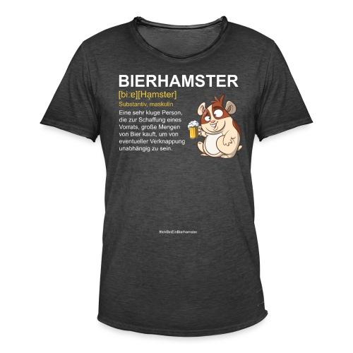 Bierhamster Bier Hamsterkauf Duden Definition Fun - Männer Vintage T-Shirt