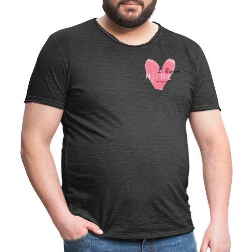 I Love Hilde Design - Männer Vintage T-Shirt
