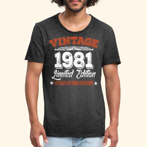 40. Geburtstag Geschenkidee Geburtstagsgeschenk - Männer Vintage T-Shirt