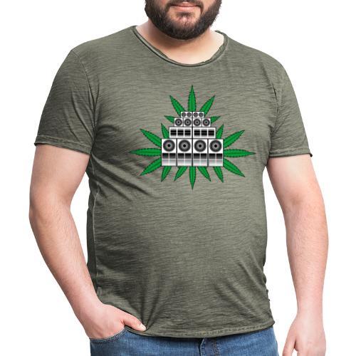 Ganja Sound System - Men's Vintage T-Shirt