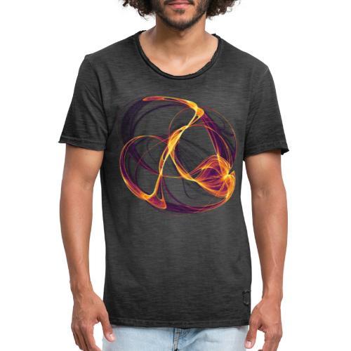 Aquarell Kunstgrafik Gemälde Bild 13997 inferno - Männer Vintage T-Shirt