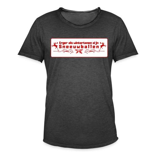 Erger dan wintertenen... - Mannen Vintage T-shirt