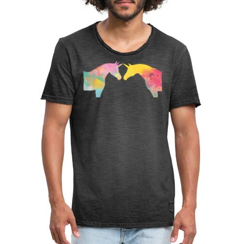 Unicorn Love - Miesten vintage t-paita