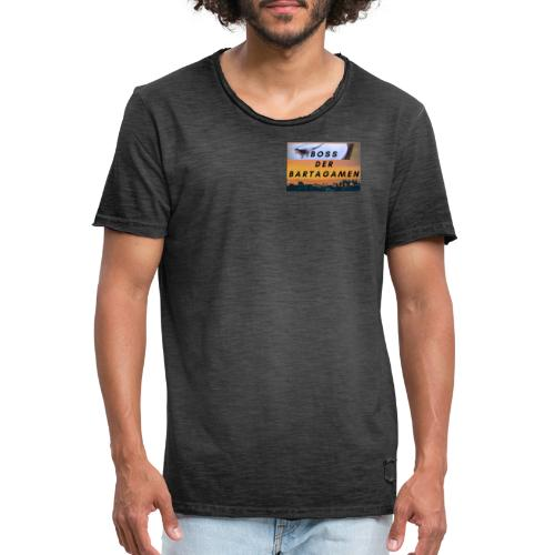 Boss der Bartagamen Brust Design + Accesoires - Männer Vintage T-Shirt
