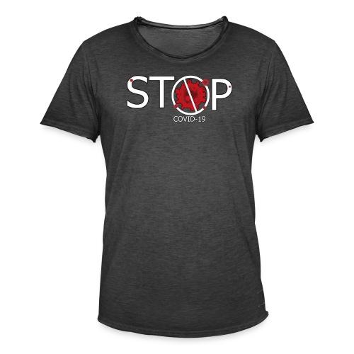 Coronavirus STOP COVID 19 - Camiseta vintage hombre