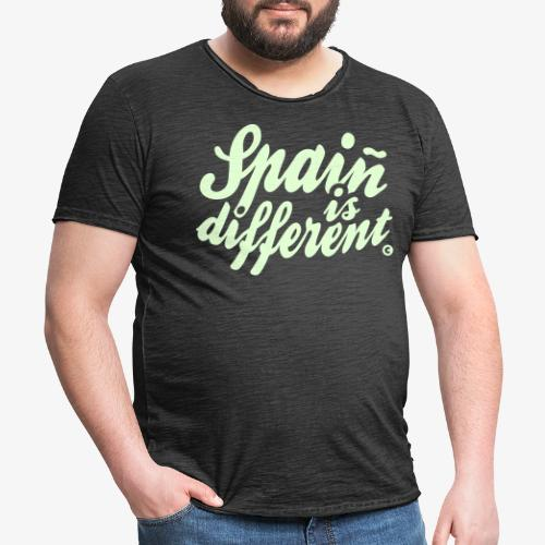 Spain is different con ñ - Camiseta vintage hombre