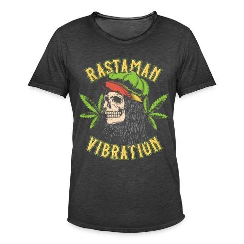 Rastaman - Cannabis - Männer Vintage T-Shirt