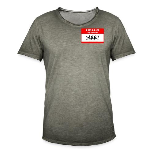 NAME Garry - Maglietta vintage da uomo