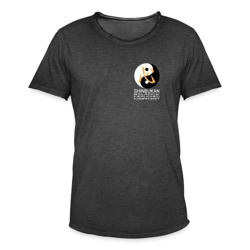 Shinbukan Tai Chi og tegnet for Kokoro hvidt tryk - Herre vintage T-shirt