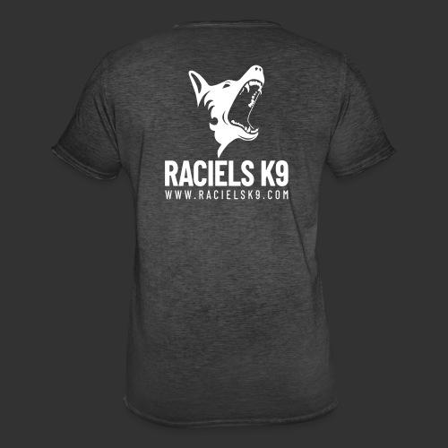 Raciels K9 TEXT & HEAD 2 - Miesten vintage t-paita