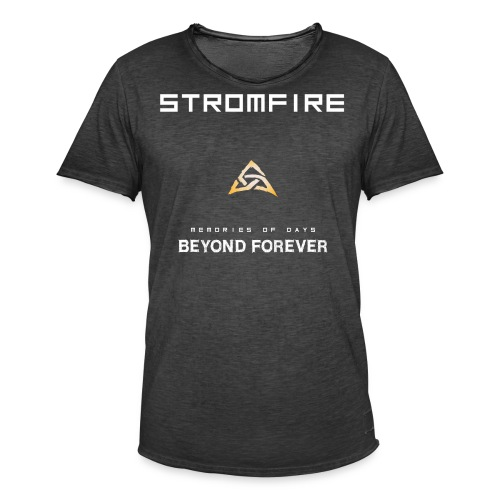 Stromfire_orange_plain - Männer Vintage T-Shirt