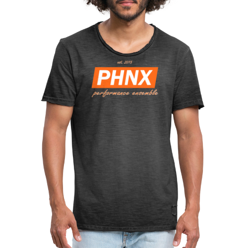 PHNX /#orange/ - Männer Vintage T-Shirt