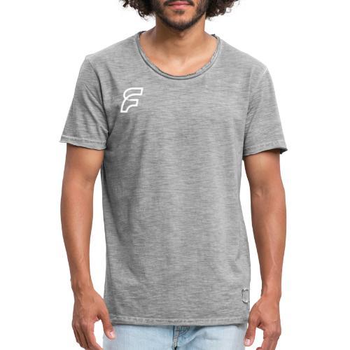 FaMe Icon Weiß + Schrift - Männer Vintage T-Shirt