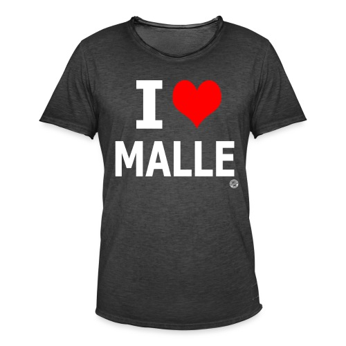 I LOVE MALLE SHIRT Damen Herren Frauen Männer - Mannen Vintage T-shirt