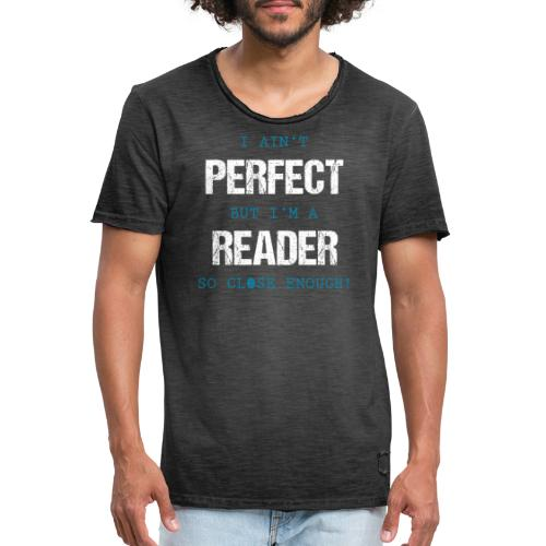 0053 readers are almost perfect! | Book | Read - Men's Vintage T-Shirt