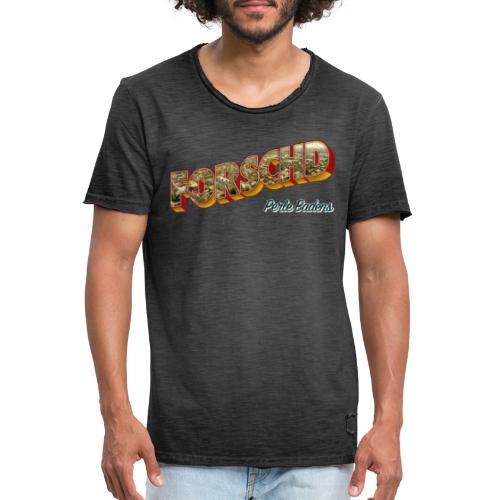 Forschd - Perle Badens - Vintage-Logo mit Luftbild - Männer Vintage T-Shirt