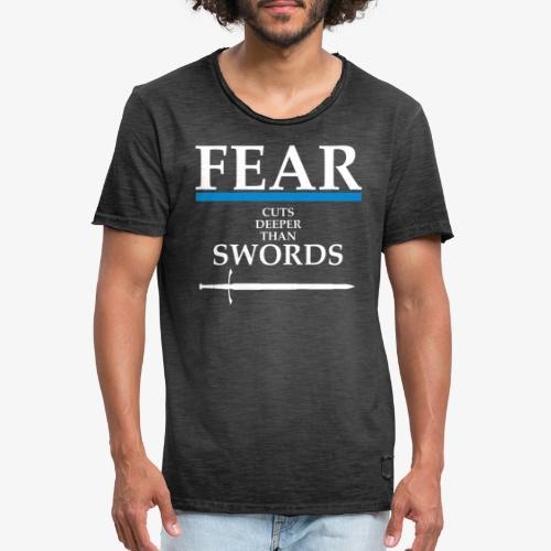 FEAR CUTS DEEPER - Men's Vintage T-Shirt
