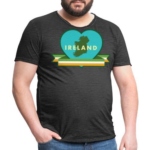 Ireland Love Heart 1 - Men's Vintage T-Shirt