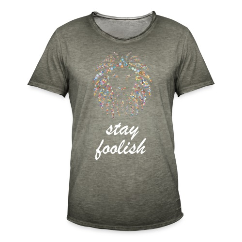 stay foolish t-shirt - Maglietta vintage da uomo