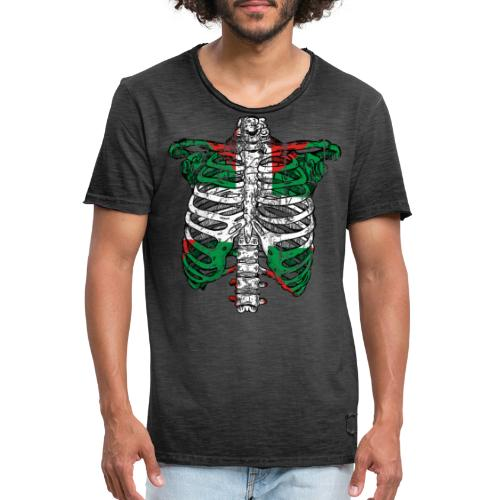 Basqueleton Grunge - Camiseta vintage hombre