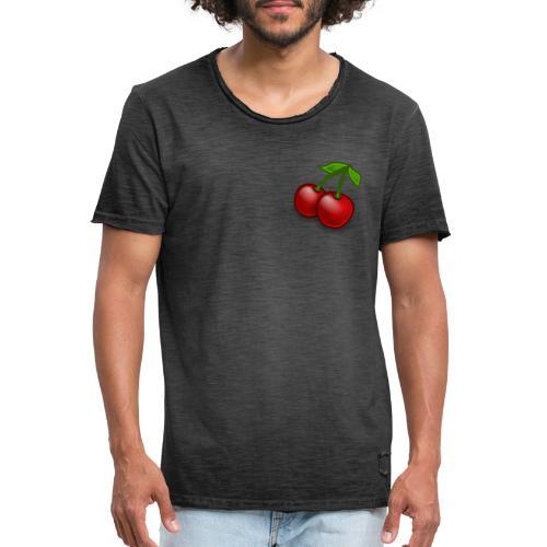 Kirschen Früchte Obst Geschenkidee - Männer Vintage T-Shirt
