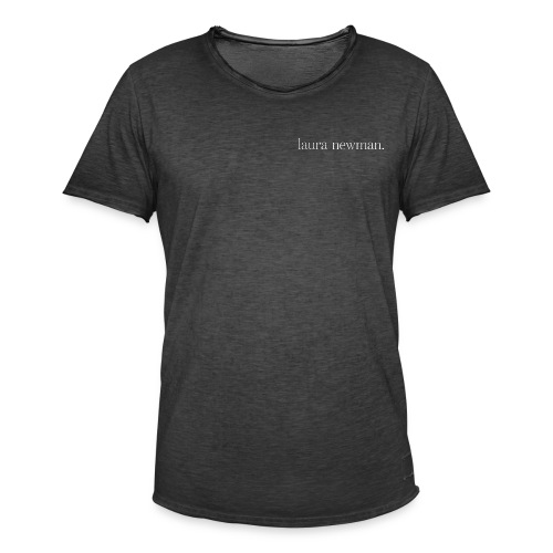 laura newman. Logo | white - Männer Vintage T-Shirt
