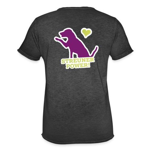 Streunerglück FAN Shirt Hund pink - Männer Vintage T-Shirt
