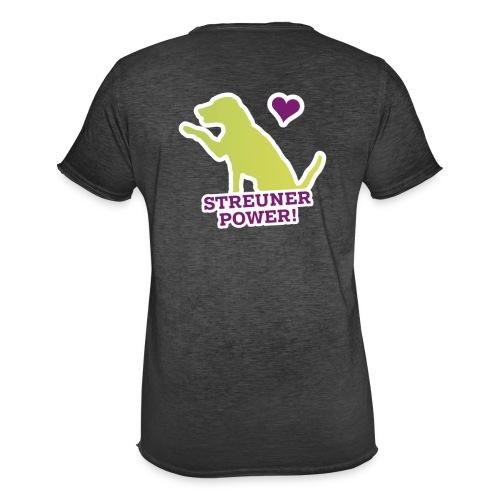 Streunerglück FAN Shirt Hund grün - Männer Vintage T-Shirt