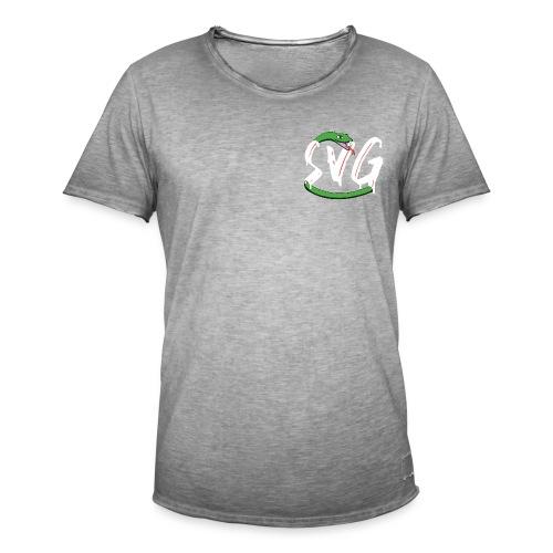 Savage Snake White - Mannen Vintage T-shirt